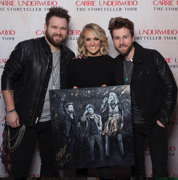 Carrie Underwood with The Swon Brothers