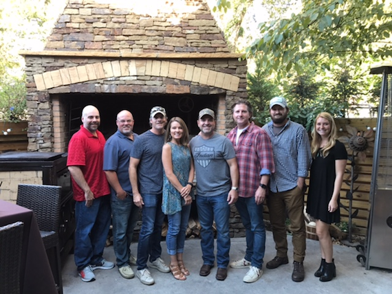 Pictured (L-R): Air Hawg Music's Cory Lovelace; Sea Gayle's Marc Driskill; Lovelace, Air Hawg Music's Karen Lovelace; Turnbull; DuBois; Sea Gayle's Jake Gear and Christina Wiltshire