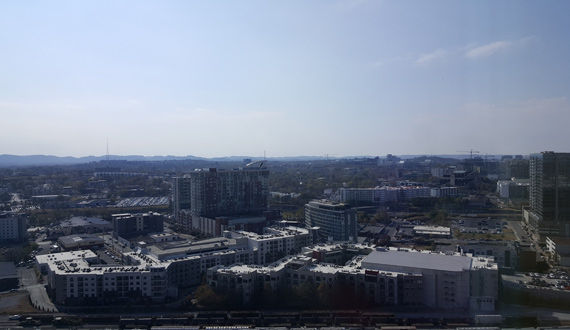 View of Nashville's Gulch and Music Row from the Westin. Photo: Bev Moser/Moments by Moser