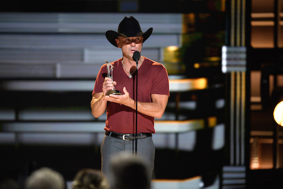 THE 50th ANNUAL CMA AWARDS - The 50th Annual CMA Awards, hosted by Brad Paisley and Carrie Underwood, broadcasts live from the Bridgestone Arena in Nashville, Wednesday, November 2 (8:00-11:00 p.m. EDT), on the ABC Television Network. (Image Group LA/ABC via Getty Images) KENNY CHESNEY