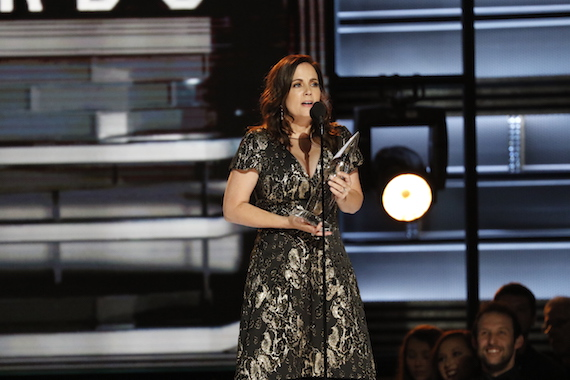"""Lori McKenna wins Song of the Year for """"Humble and Kind"""" at """"The 50th Annual CMA Awards,"""" live Wednesday, Nov. 2 at Bridgestone Arena in Nashville and broadcast on the ABC Television Network."""