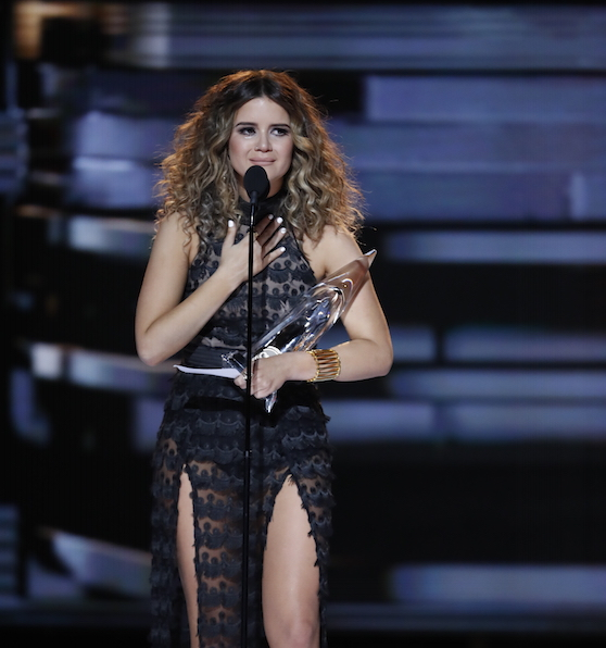 """Maren Morris wins New Artist of the Year at """"The 50th Annual CMA Awards,"""" live Wednesday, Nov. 2 at Bridgestone Arena in Nashville and broadcast on the ABC Television Network."""