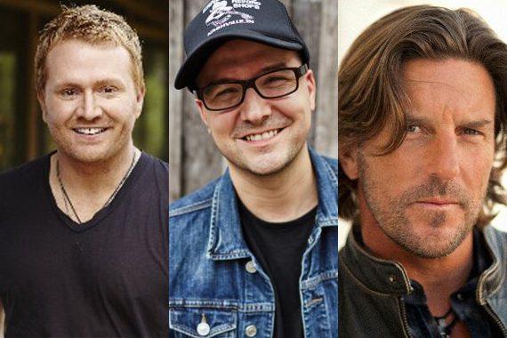 Pictured (L-R): Shane McAnally, Luke Laird, Brett James