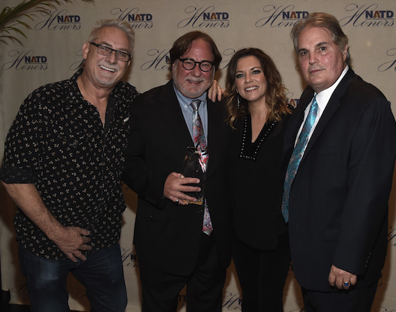 Pictured (L-R): John McBride, Honoree Rod Essig, Martina McBride and Charlie Brusco attend The 2016 NATD Honor at the Hermitage Hotel on November 9, 2016. Photo: Rick Diamond/Getty Images for NATD
