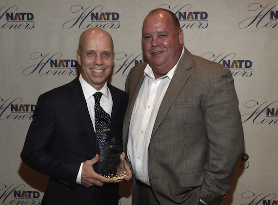 Honoree Scott Hamilton and Chaz Corzine attend the 2016 NATD Honors Gala. Photo: Rick Diamond/Getty Images for NATD