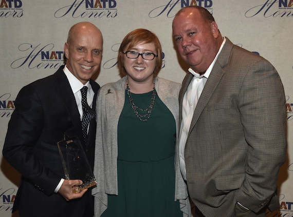 Honoree Scott Hamilton, Mallory Corzine and Chaz Corzine attend the 2016 NATD Honors Gala. Photo: Rick Diamond/Getty Images for NATD