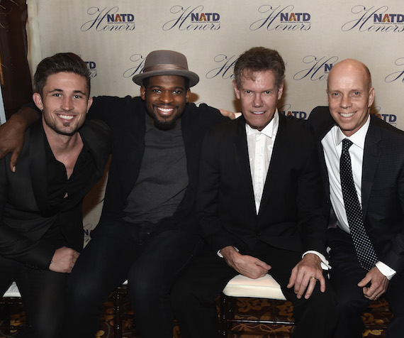 Singer/Songwriter Michael Ray, Honoree NHL Nashville Predators P.K. Subban, Honoree Singer/Songwriter Randy Travis and Olympian Gold Medalist Scott Hamilton. Photo: Rick Diamond/Getty Images for NATD
