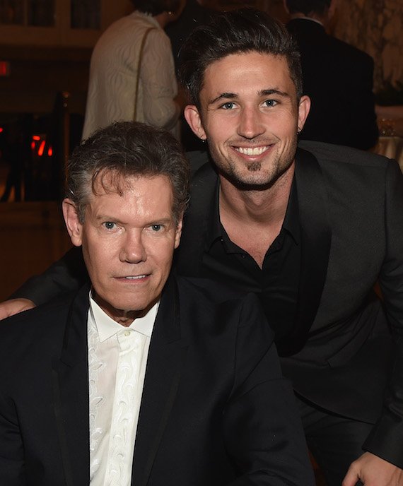 Honoree Randy Travis and Singer/Songwriter Michael Ray. Photo: Rick Diamond/Getty Images for NATD