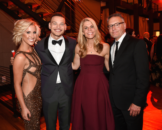"(L-R:) at Sony Music Nashville's CMA Awards post party at The Bell Tower are: Savannah Chrisley of USA Network's ""Chrisley Knows Best,"" RCA Nashville/Zone 4's Kane Brown, EFG Management's Martha Earls and Sony Music Nashville's Chairman & CEO Randy Goodman Photo credit: Erika Goldring"