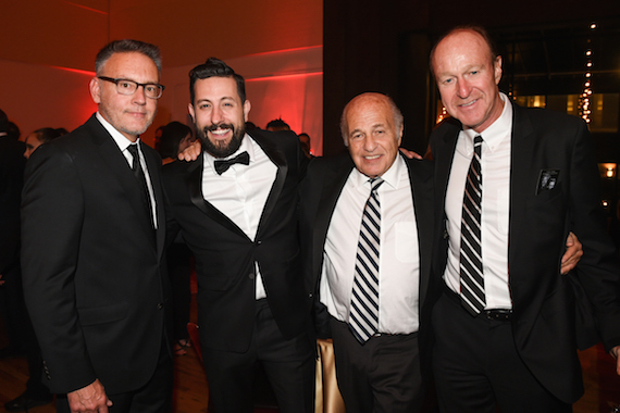 (L-R:) Sony Music Nashville Chairman & CEO Randy Goodman, Old Dominion's Matthew Ramsey, and Sony Music Entertainment's CEO Doug Morris and EVP & CFO Kevin Kelleher. Photo credit: Erika Goldring