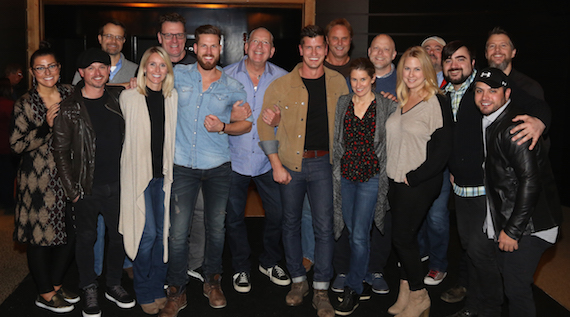 Photo caption: Warner Music Nashville celebrated the release of High Valley's major label debut album Dear Life while giving back to the duo's long-time non-profit partner Food For The Hungry. Photo: Alan Poizner