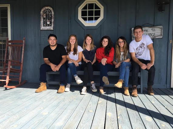 Pictured (L-R): Aby Gutierrez, Betsy Lane, Anna Vaus, Brittany Kennell, Emily Hackett, and Andrew Tufano