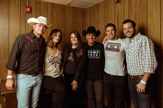 Pictured (L-R): Jordan Walker of Walker McGuire/Wheelhouse Records; MaryAnn Keen/BMI; Amelia Varni/Universal Music Publishing; Craig Campbell/Red Bow Records ; Andrew Cohen/Suit Music, YEP Exec. Director; Johnny McGuire of Walker McGuire/ Wheelhouse Records