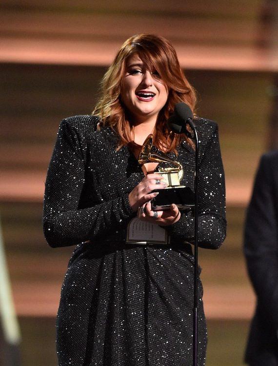 Meghan Trainor wins a 2016 Grammy. Photo: Kevork Djansezian/Getty Images, courtesy Grammy.com