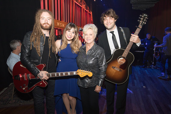 L to R: Paul Moak, Caitlyn Smith, Connie Smith and Rollie Gaalswyk Photo Credit: Chris Hollo Courtesy of Grand Ole Opry