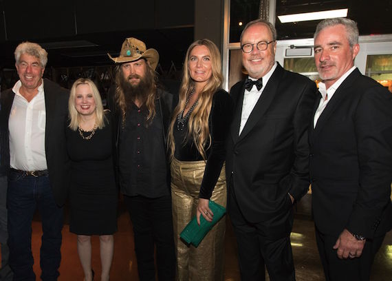 L to R: Red Light's Coran Capshaw; UMGN President Cindy Mabe; Chris Stapleton; Morgane Stapleton; UMGN Chairman and CEO Mike Dungan; UMGN SVP A&R Brian Wright