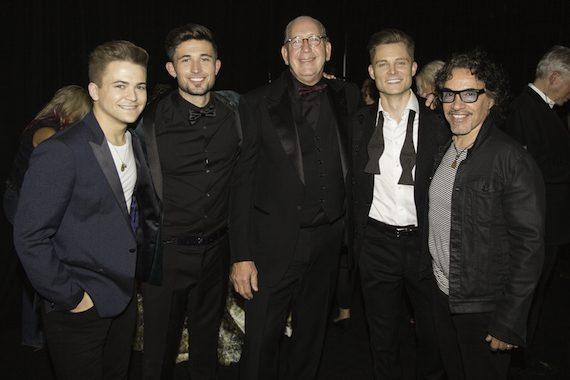 (L-R:) Hunter Hayes, Michael Ray, John Esposito (Chairman & CEO, WMN), Frankie Ballard, John Oates