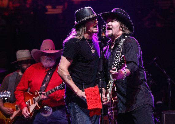 Kid Rock and Travis Tritt. Photo: Terry Wyatt/Webster PR