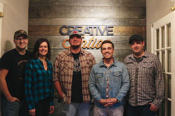 From (L-R): Luke Laird, Creative Nation; Beth Laird, Creative Nation; Charlie Muncaster; Gary Stanton; Jeff Skaggs, Creative Nation.