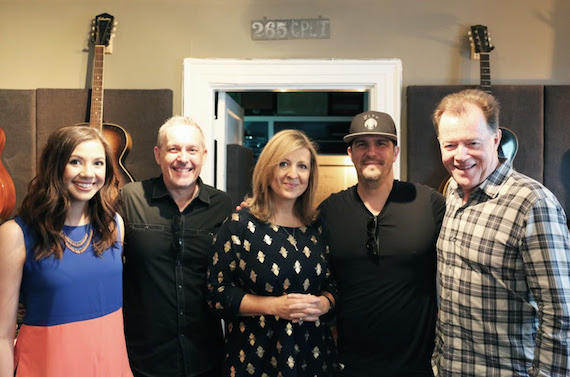 Pictured (L-R): Morgan Shirey, Marketing, Integrity Music; Adrian Thompson, A&R, Integrity Music; Darlene Zschech; Mike Murray, Creative/Publishing, Integrity Music; Danny McGuffey, WILDFIRE7