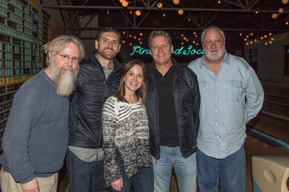 Pictured (L-R): David Macias, Thirty Tigers; Taylor Childress, Curb; Stephanie Alexa, ATO Records; Benson Curb, Curb; Scott Robinson, Dualtone Records