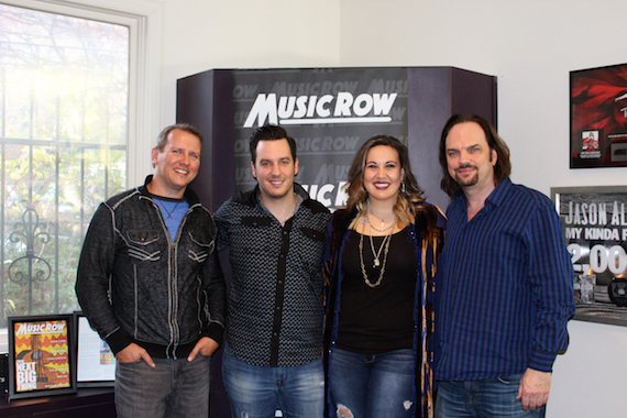 Pictured (L-R): MusicRow's Troy Stephenson, Terra Bella and MusicRow's Sherod Robertson
