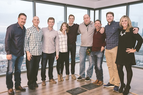 Pictured (L-R): WME Nashville Co-head Rob Beckham; new agents Nick Miller, Alex Luebbert and Shannon Saunders; WME | IMG Co-CEO Patrick Whitesell; WME | IMG COO Jason Lublin; WME Nashville Co-head Greg Oswald; new agent Austin Neal; and digital marketing exec Sloane Logue.