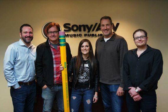 l-r SATV's Josh Van Valkenburg, Deep South Entertainment's Dave Rose, Tyndall, Luteran, Noah McPike