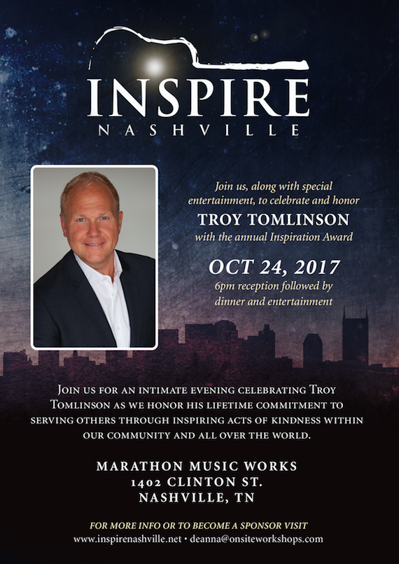 Troy Tomlinson To Receive 2017 Inspiration Award During