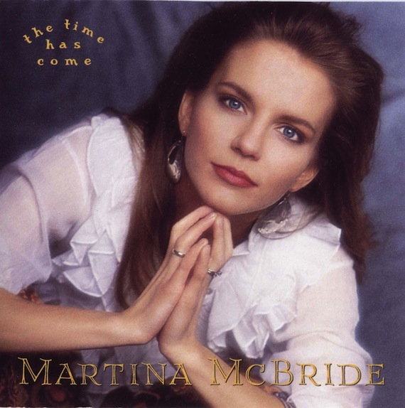 Martina McBride's debut album cover, The Time Has Come.