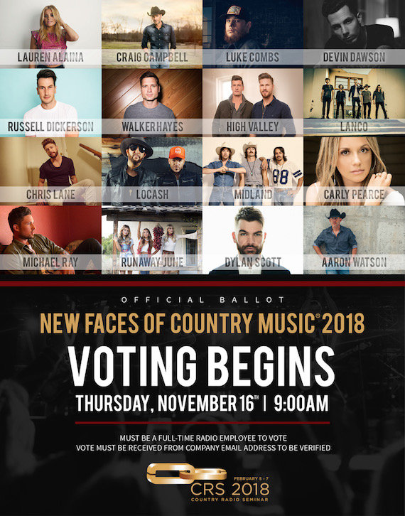 CRS New Faces Of Country Music Show Talent Nominees Announced :