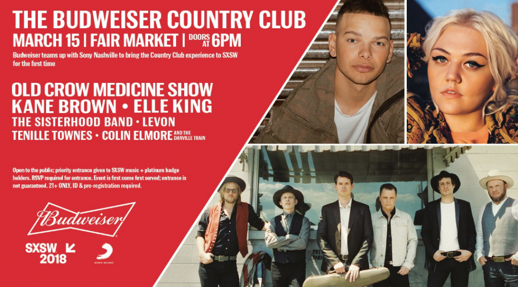 Kane Brown, Old Crow Medicine Show To Play Budweiser/Sony