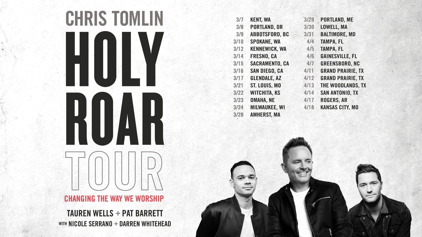 Chris Tomlin Announces \'Holy Roar\' Spring Tour : MusicRow ...