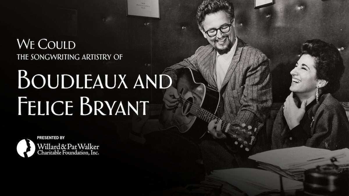 Boudleaux and Felice Bryant Exhibition Opens Next Month :