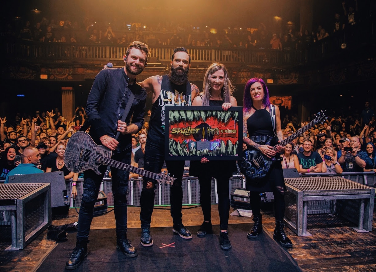Skillet Receives Riaa Plaques For Monster And Hero